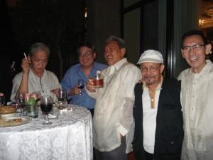 Marne Kilates, Charlson Ong, Krip Yuson, Teo Antonio, at Jimmy Abad