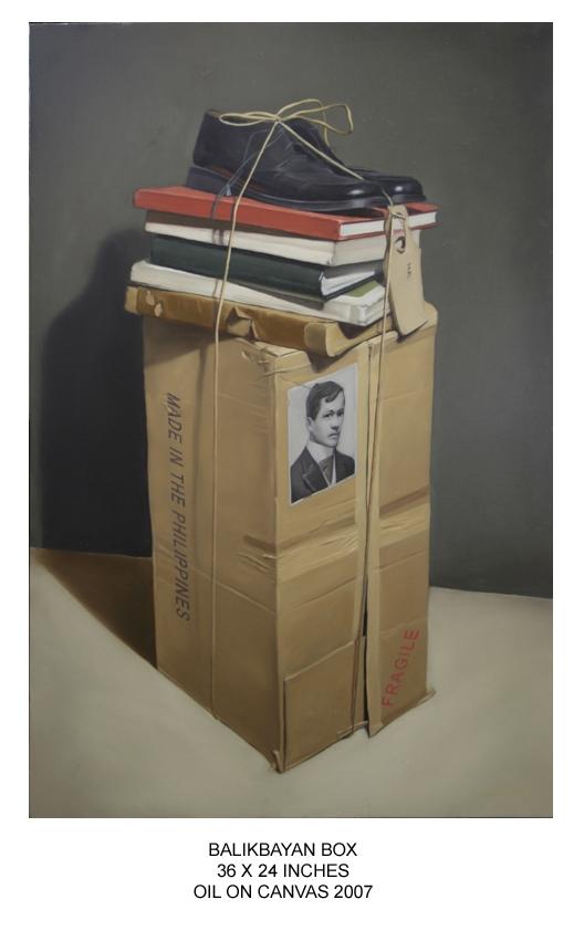 """Balikbayan Box,"" pintura ni John Santos"