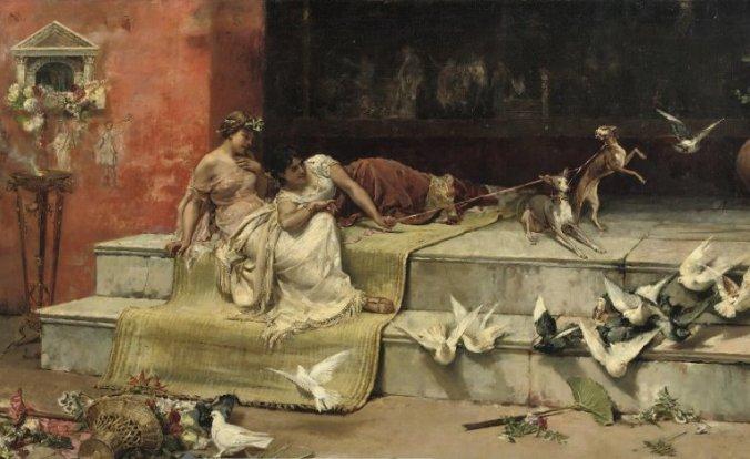 """""""Las damas Romanas,"""" pintura ni Juan Luna."""
