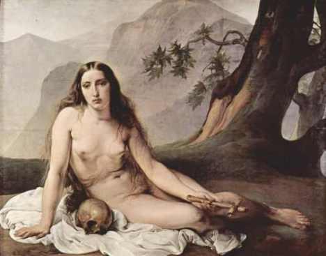 Maria Magdalena. Pintura ni Francesco Hayez.