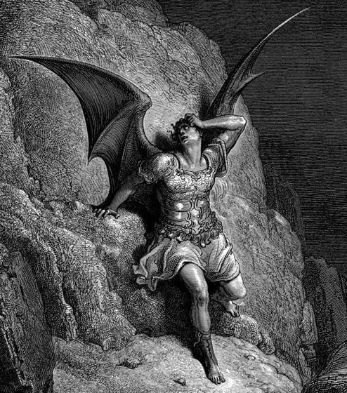 """Grabado ni Gustave Dore para sa """"Naglahong Paraiso"""" ni John Milton."""