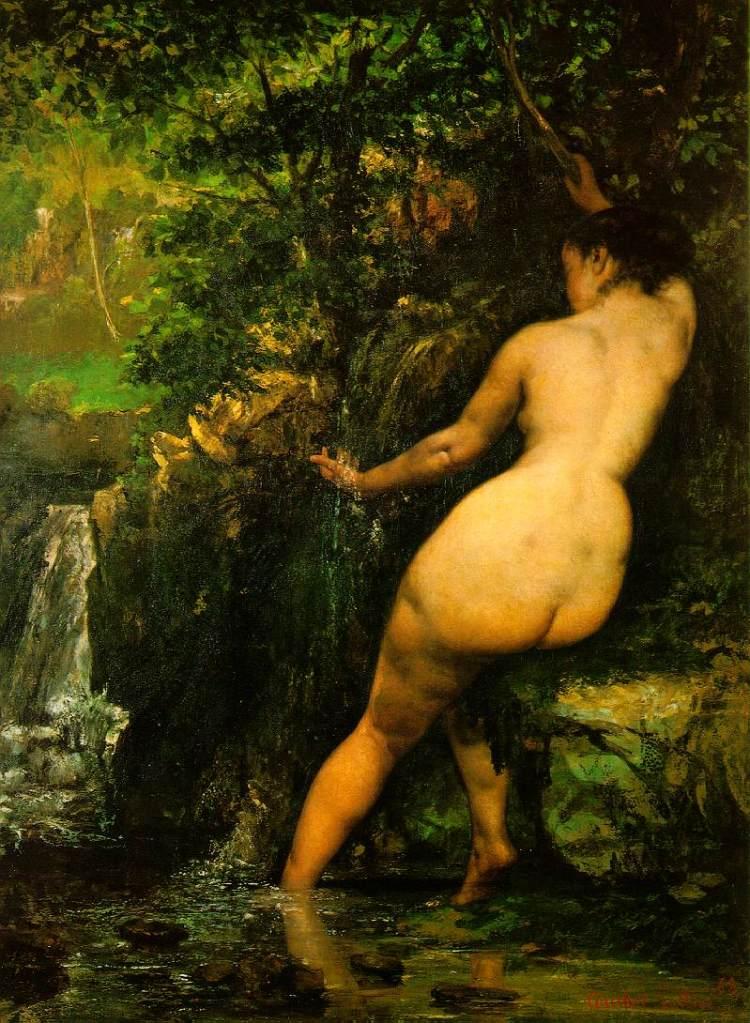 La Source or Die Quelle (1868) ni Gustave Courbet.