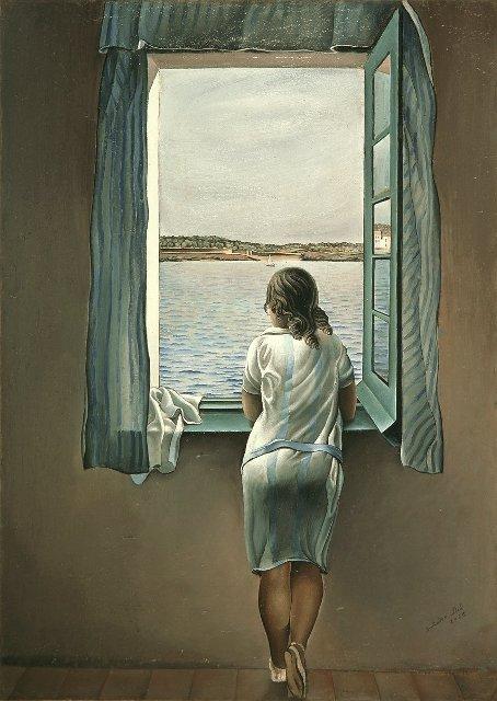 """""""Babae sa may bintana"""" (1925), pintura ni Salvador Dali."""