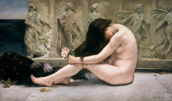 """La tumba del poeta"" (Libingan ng makata), 1900, pintura sa oleo ni Saenz Pedro Saenz."