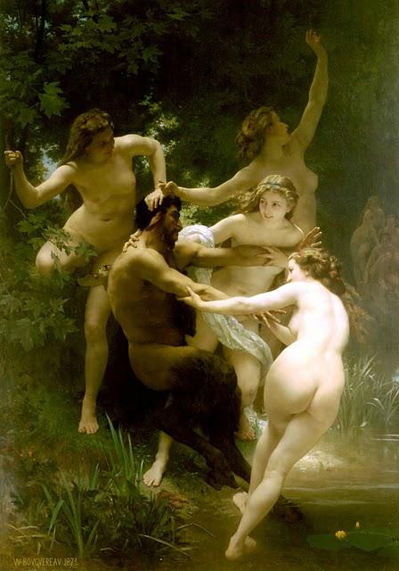 Nymphes et Satires, oleo sa kambas, ni William-Adolphe Bouguereau noong 1873