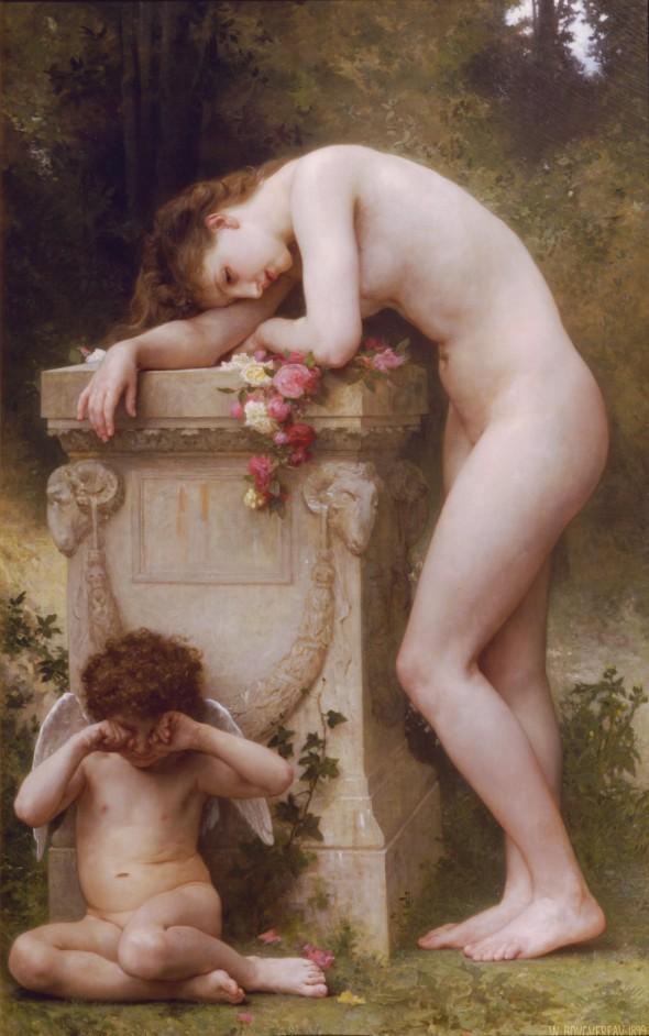 """""""Elehiya"""" (1899) oleo sa kambas ni William Adolphe Bouguereau."""