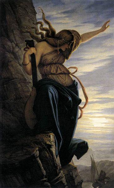 """""""Lorelei,"""" (1864), oleo sa kambas ni Eduard Jacob von Steinle"""
