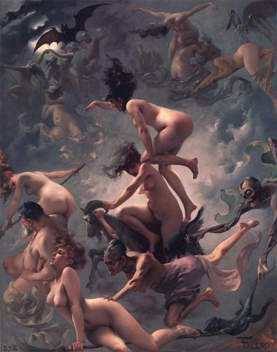 """""""Paglisan ng mga Mangkukulam,"""" pintura ni Louis Falero, 1877."""