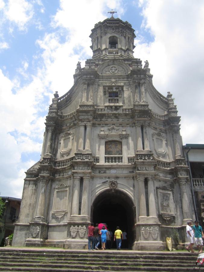 Patsada ng Simbahan ng Santo Jerome. Morong, Rizal.